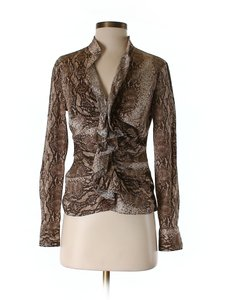 Moda International Stylish New Top Brown animal print