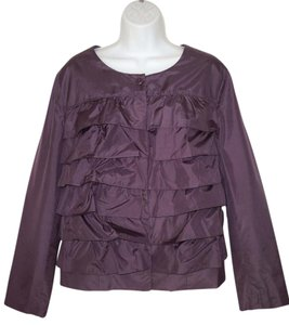 Garnet Hill Tiered Ruffled Silk Taffeta Jacket