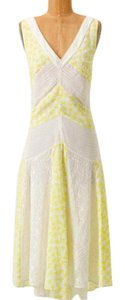 Yellow and White Maxi Dress by Anthropologie