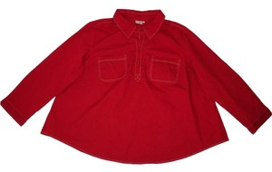 Eshakti Red Cotton A-line Popover Top