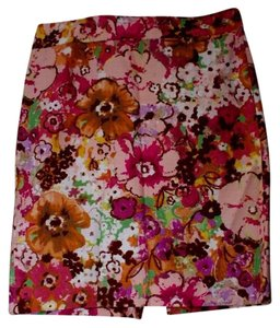 J.Crew Skirt multi color pink