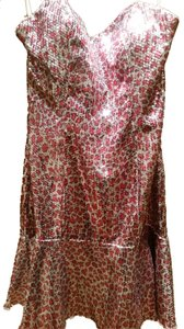 Alyce Paris Beaded Strapless Sequin Short Dress