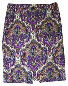 J.Crew Skirt purple multicolored