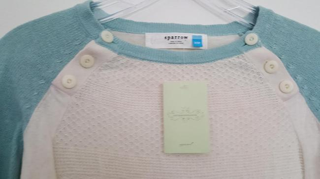 Anthropologie Knit Button Crewneck Sweater