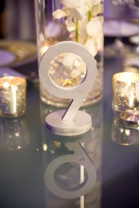 Silver Wood Wedding Table Numbers