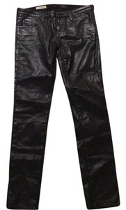 AG Adriano Goldschmied Faux Leather Skinny Skinny Pants Black