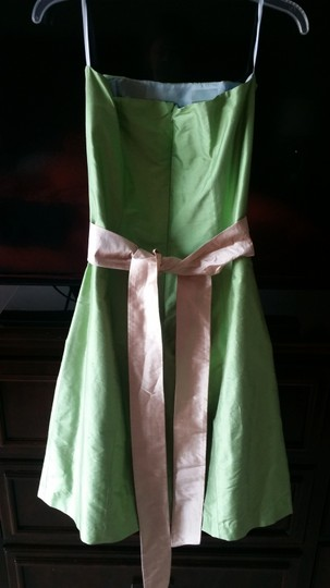 Green Simple Silhouettes Strapless Dress
