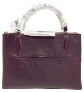 Coach 32912 Borough Edgepaint Satchel in Oxblood