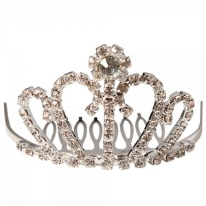 Rhinestone Floral Crown Design Wedding Bridal Hair Comb Pin