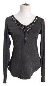 Free People Button Down Shirt Dark gray
