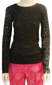 Narciso Rodriguez Cocktail Sequin Evening Stretchy Top BLACK