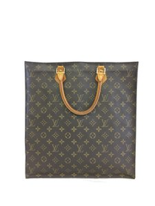 Louis Vuitton Lv Sac Plat Monochrome Canvas Tote in brown