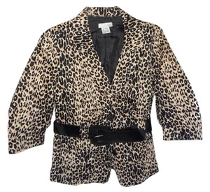 Luii Belted Cotton Lined ANIMAL PRINT Jacket