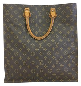 Louis Vuitton Lv Sac Plat Monogram Canvas Tote in brown