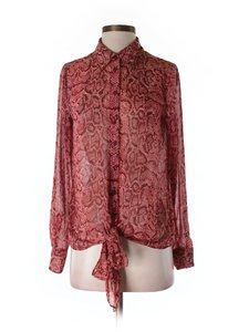 INC International Concepts New Polyester Polyesterxy Cute Fall Top Red ( brick red ) orange