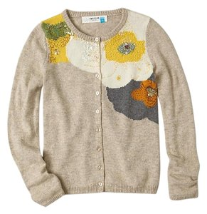 Anthropologie Button Crewneck Cardigan