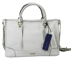 Rebecca Minkoff Frills Gold Hardware Butterfly Lining Leather Tote in White