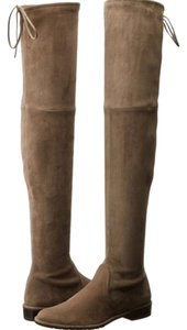 Stuart Weitzman Suede Lowland Over The Knee Taupe Londra Gray Boots
