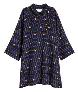 Kenzo x H&M short dress Navy Slik on Tradesy
