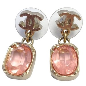 Chanel Chanel Pink Drop Earrings