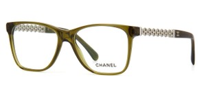 Chanel NEW Chanel CH 3320 Olive Silver Chain Eyeglasses Frames