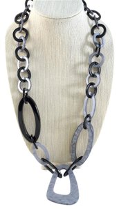 Alisha D. Luxury Link Resin Necklace Black and Gray
