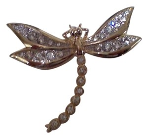 Cabouchon Cabouchon crystal dragonfly pin