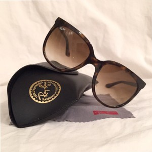 Ray-Ban Cats 1000 Tortoise Polarized RB 4126 W/Case & Cloth