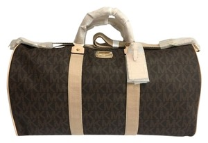 Michael Kors Jet Set Travel Duffle Brown Travel Bag