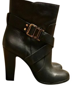 Vince Camuto Bkack polished gold hardware. Boots