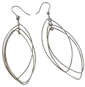 Other TEXTURED OVAL DROP EARRINGS
