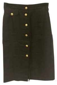 Escada Skirt Black, Gold