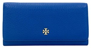 Tory Burch Mercer Envelope Continental Wallet, Jelly Blue
