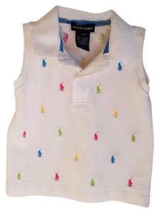 Ralph Lauren Cotton Children Button Down Shirt White