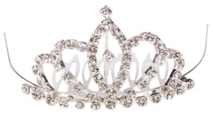 Rhinestone Marquis Crown Design Wedding Bridal Hair Comb Pin