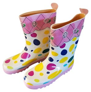 English Rose Waterproof Rain Polka Dots Boots