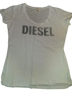 Diesel Size12 T Shirt White and smoky grey