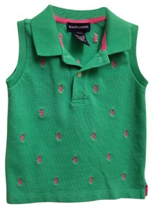 Ralph Lauren Cotton Children Button Down Shirt RL Green
