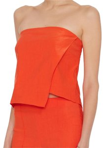 Veronica Beard Evening Party Casual Strapless Bright Top Orange