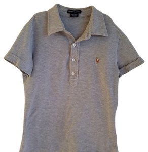 Ralph Lauren Cotton Stretchy Button Down Shirt Grey