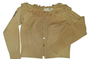Newport News Lace Tan Size Large Sweater