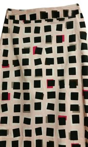 Kate Spade Pencil Abstract Pattern Skirt Pink, Black, White