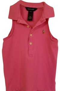 Ralph Lauren Stretchy Cotton Button Down Shirt Dark Pink