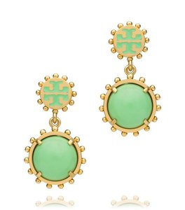 Tory Burch Tory Burch Winslow drop Earrings Green