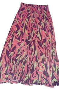 Boden Size 16 Maxi Skirt Pink, maroon and tan