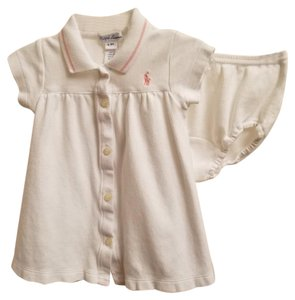 Ralph Lauren short dress White Cotton Infant Stretchy on Tradesy