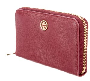 Tory Burch Red leather Tory Burch zip around wallet