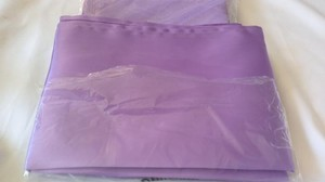 10 Count Lavender Satin Overlays & 10 Count Lavender Satin Table Runners ( New In Packages )