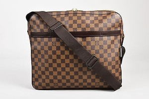 Louis Vuitton Tan Damier Coated Canvas Leather Trim Ghw Messenger Cross Body Bag
