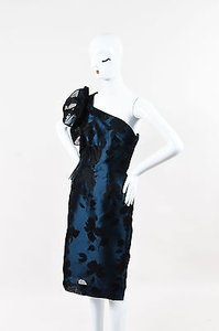 Carolina Herrera Herrara Navy Black Dress
